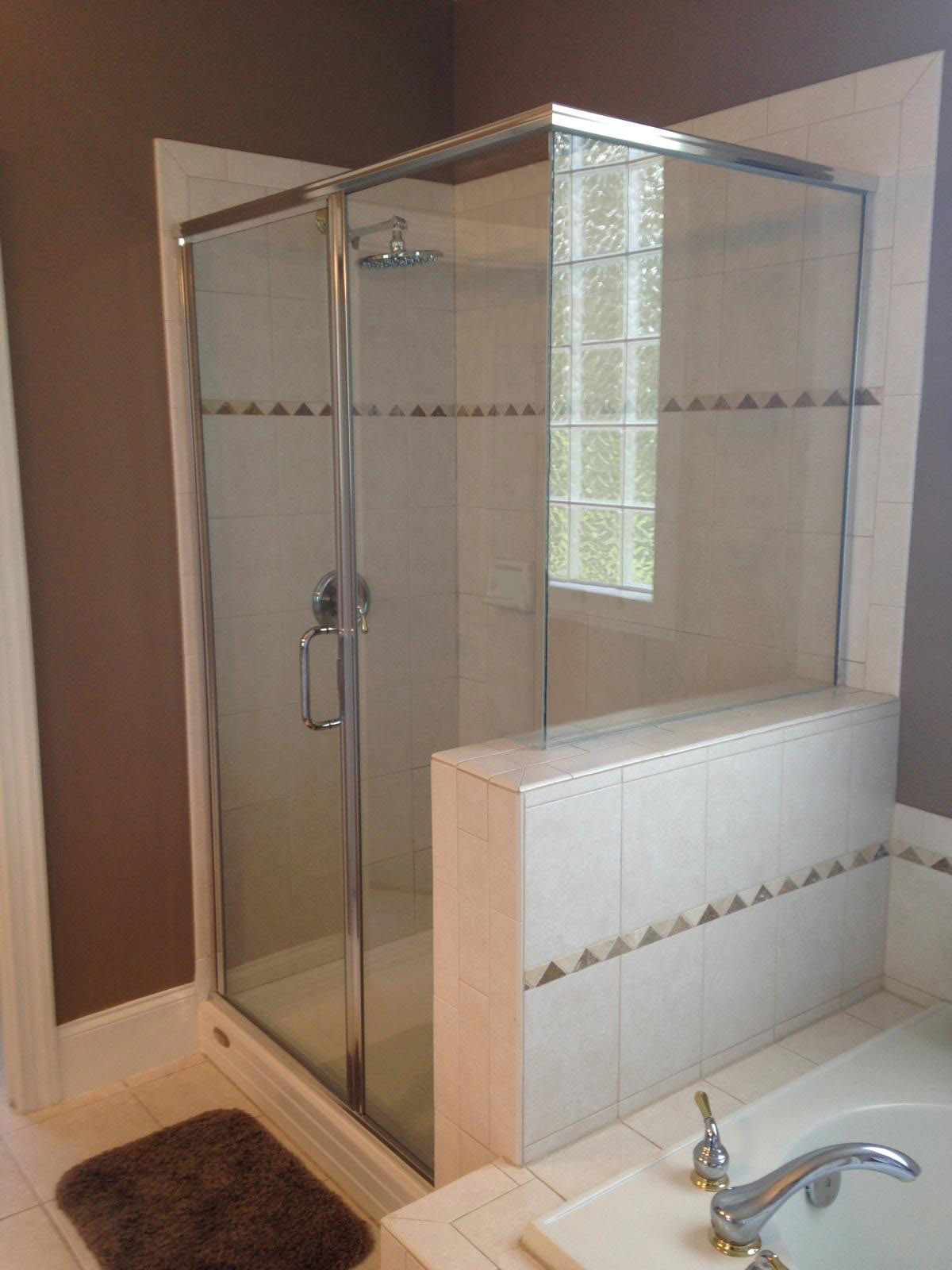 Semi Frameless Shower Enclosures semi frameless shower doors raleigh nc | shower glass