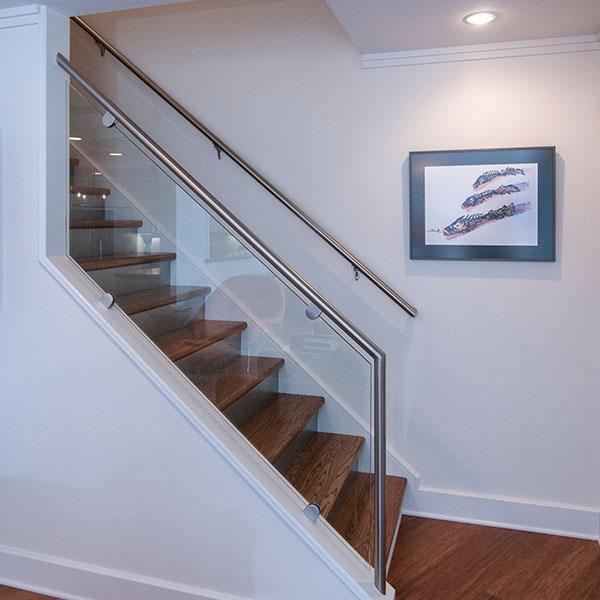 how to add a door on staircase